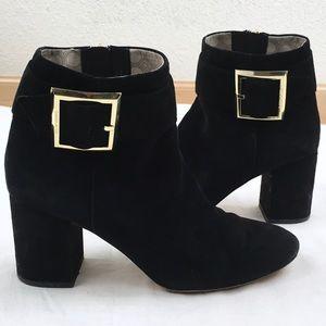 Louise et Cie Suede Block Heel Ankle Bootie